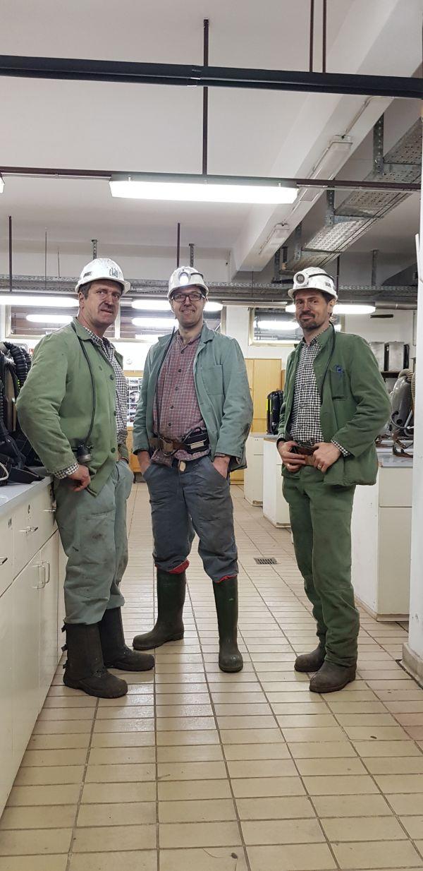 Gorazd Vertovšek v premogovniku